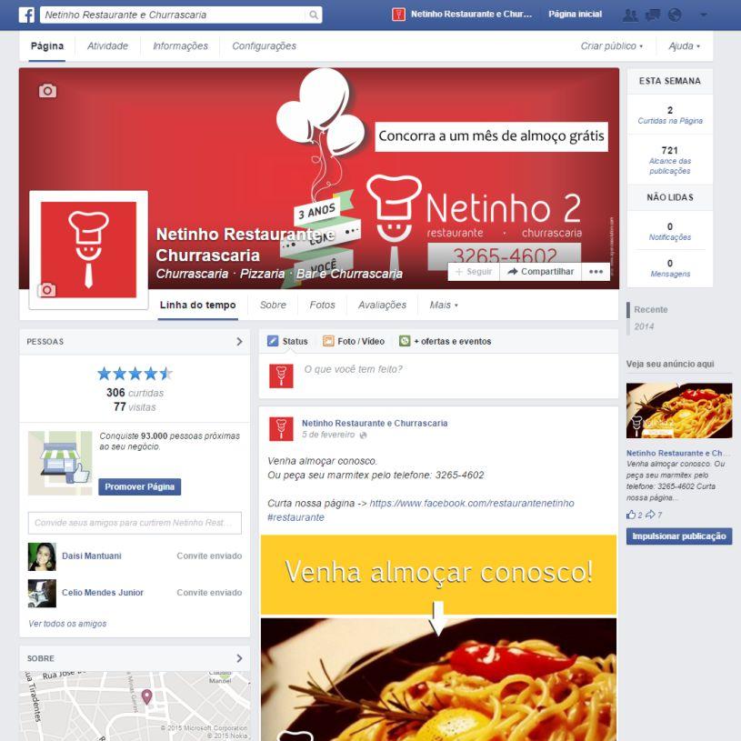 Facebook - uma das redes sociais mais usadas no mundo