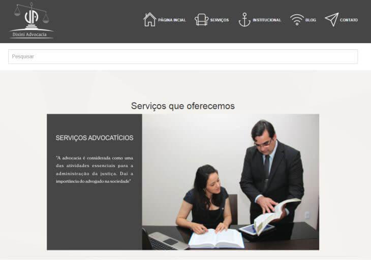 Criação de site para advogado ou escritório de advocacia Minas Gerais