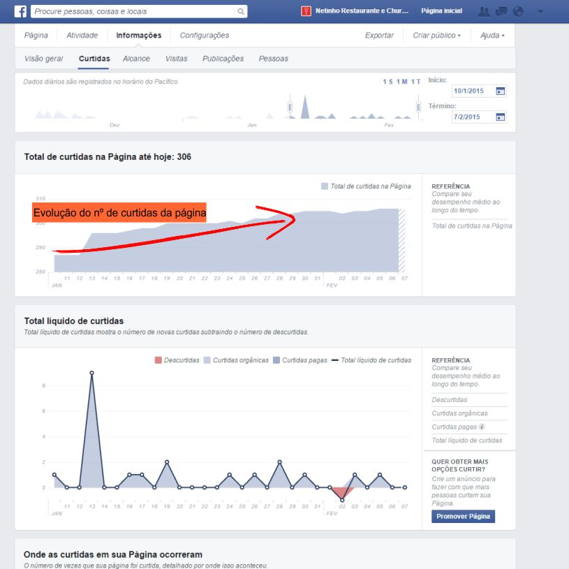 relatorio  Facebook insights
