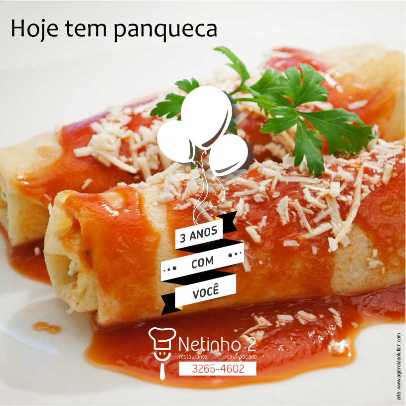 Panqueca - arte de marketing social Facebook