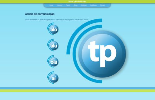 Web site TPNet - pagina contato