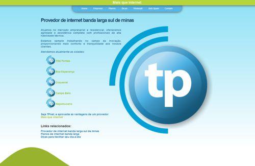Site TPNet - pagina planos