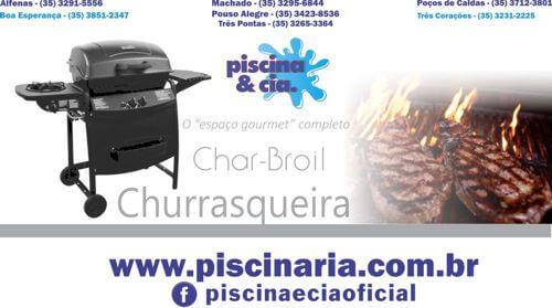 Campanha publicitária lançada no Facebook para a empresa Piscina e Cia - Churrasqueiras Char-Broil - churrasqueira à gás