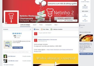 Facebook marketing – Restaurante Netinho 2