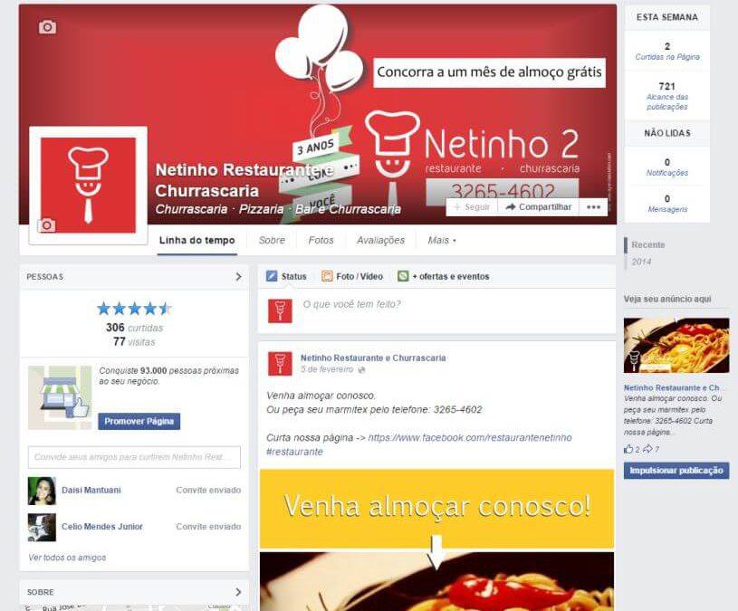 Facebook marketing – Restaurante Netinho 2
