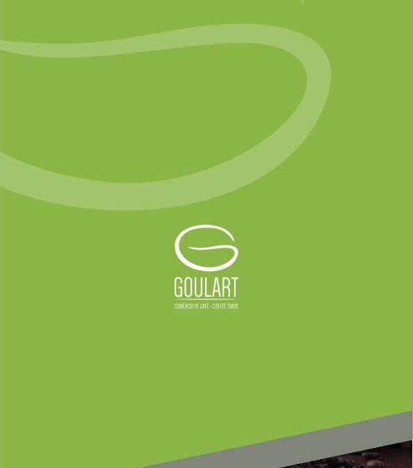 Criação de logotipo e identidade visual empresa Goulart Comércio de Café
