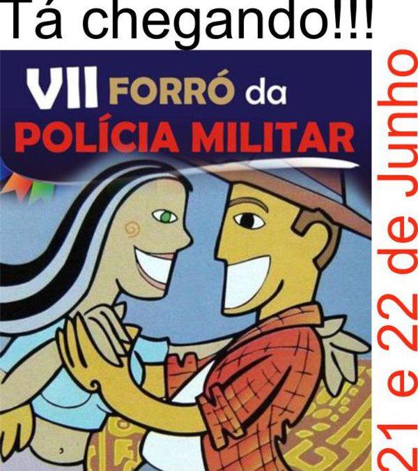 Administração de redes sociais – sul de minas – VII Forró da Polícia Militar – Três Pontas