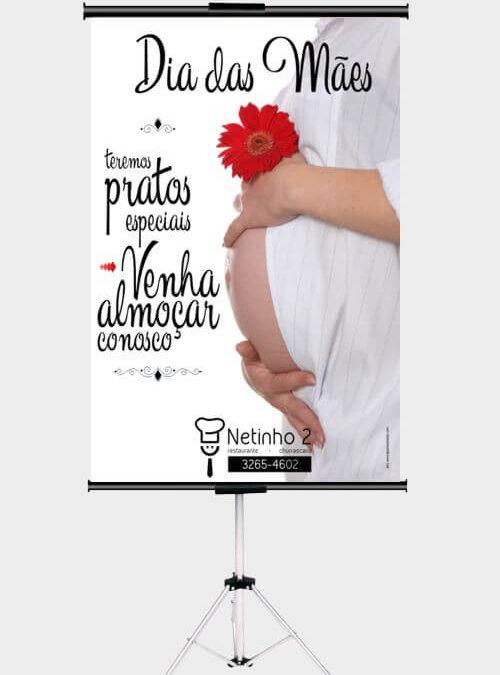 Publicidade para o Dia das Mães com mensagem dia das mães – Restaurante Netinho 2